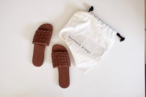 Woven Slide - Summer Tan