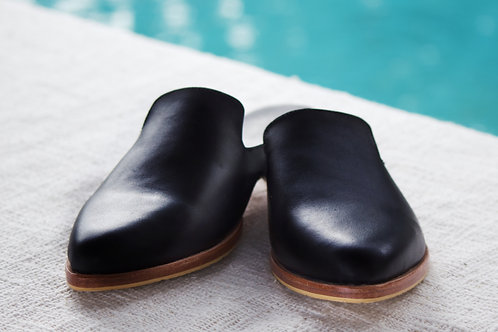 Leather Mule - Black