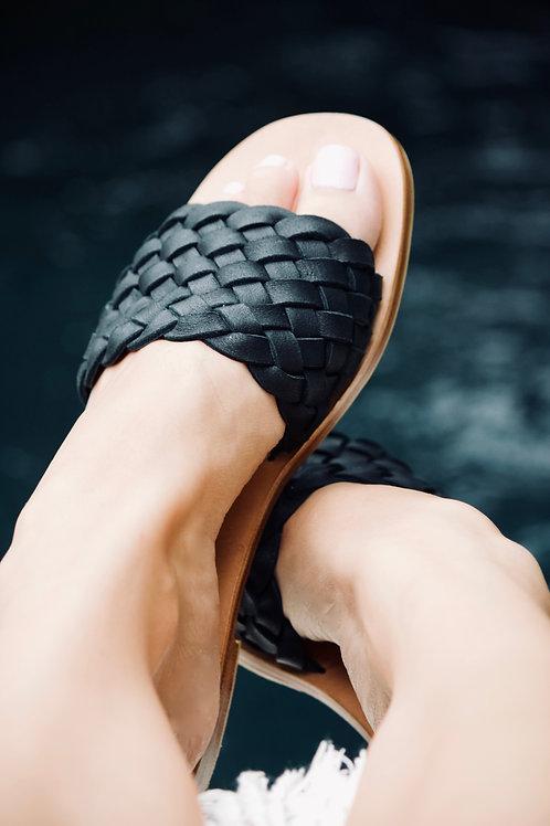 Woven Slide - Black