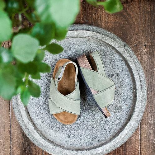 Little Gypsy Suede Sandals - Green