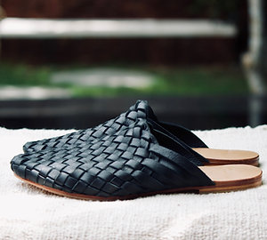WAREHOUSE SALE Woven Leather Mule