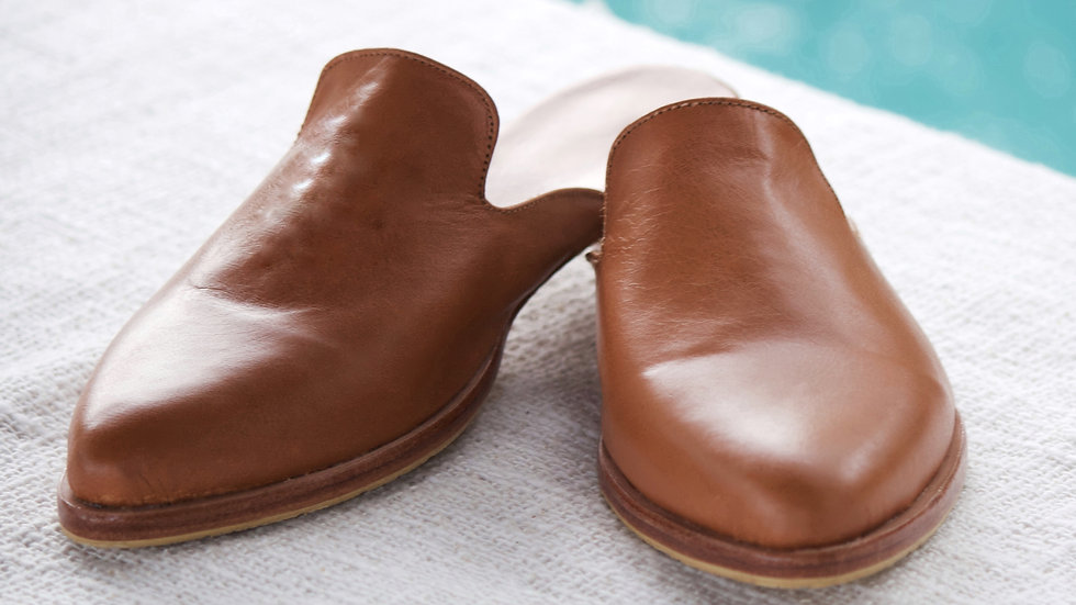 Leather Mule - Summer Tan