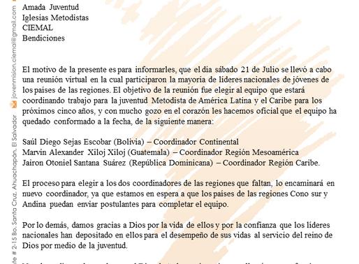 Ministerio Joven en Misión de Ciemal tiene nuevo equipo de coordinación latinoamericana
