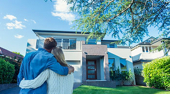 Buyers looking at home