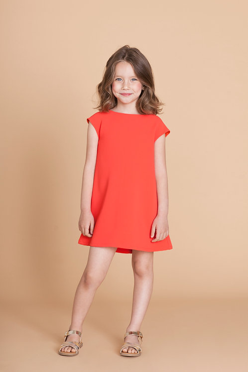 MiniMe DRESS in Coral