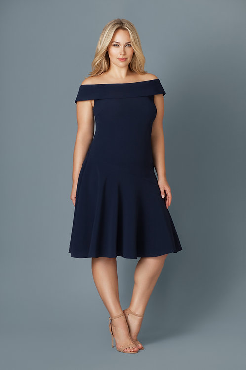 MILANO DRESS IN NAVY BLUE