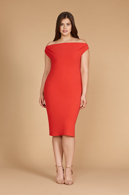LIMA DRESS IN CORAL