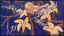 God's world is so beautiful, acrylique sur toile, 44,5 x 75 cm