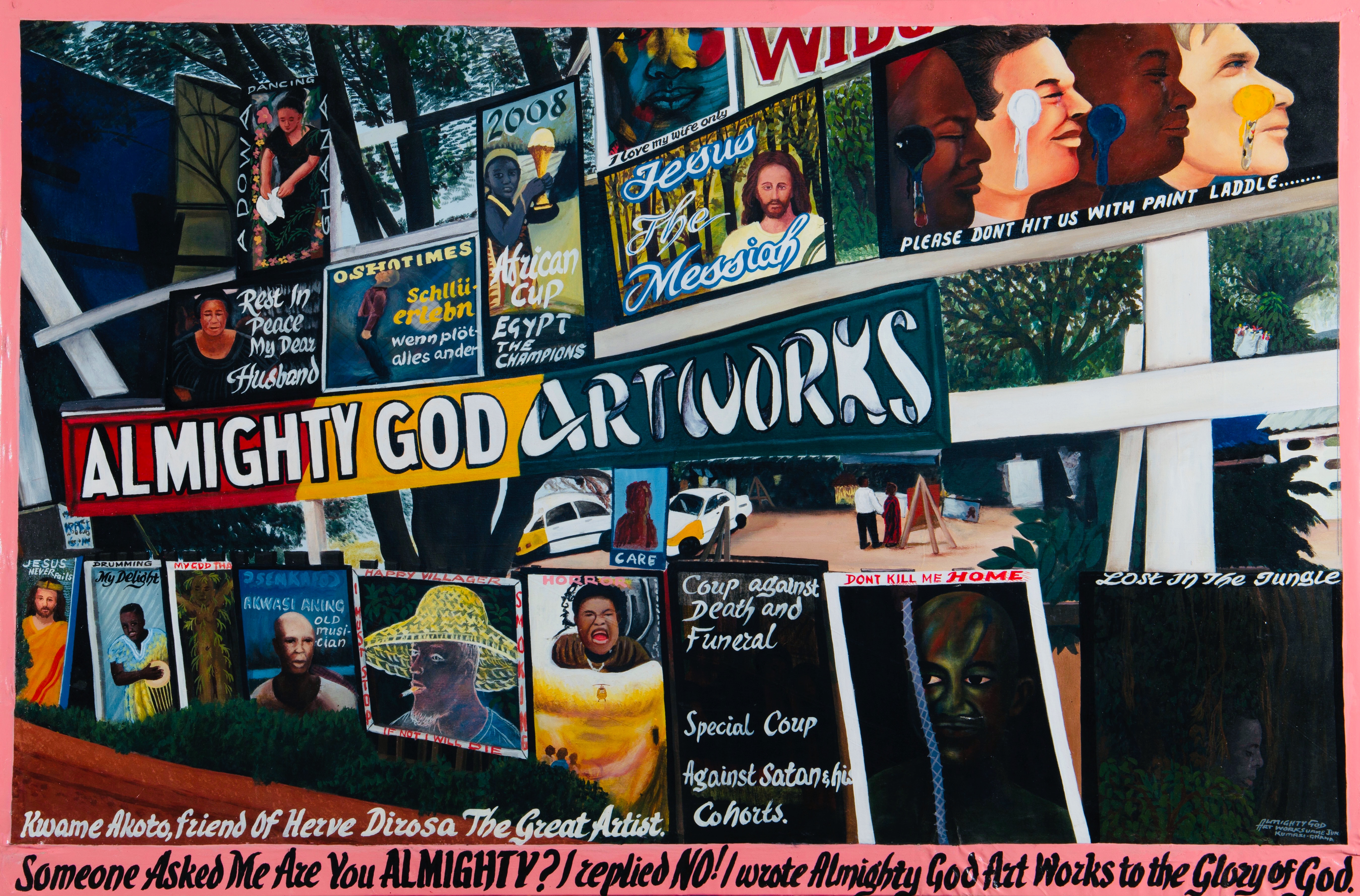 Almighty God Art Works, acrylique sur toile, 107 x 183 cm