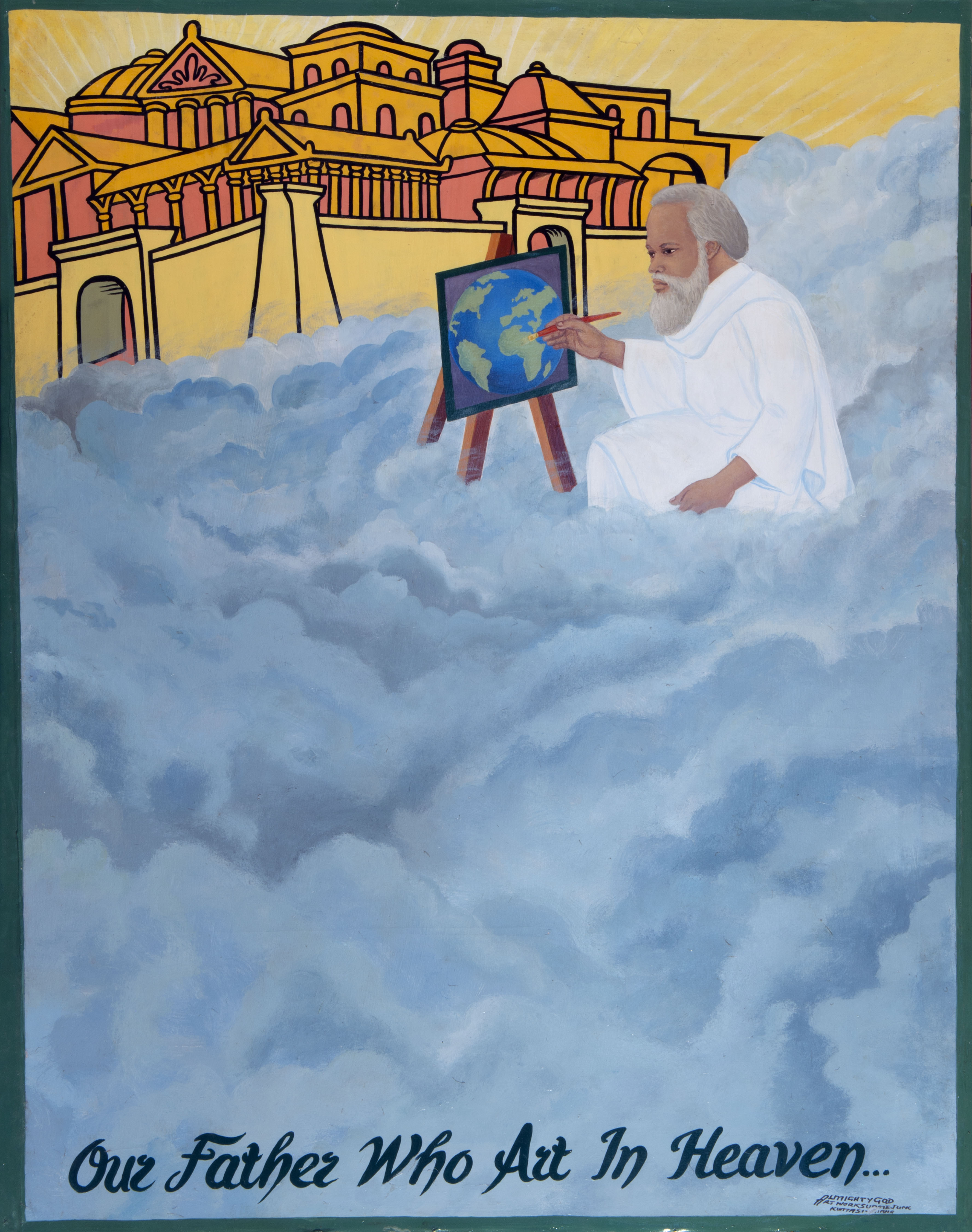 Our father who art in heaven, acrylique sur toile, 148 x 120 cm9_OAF3