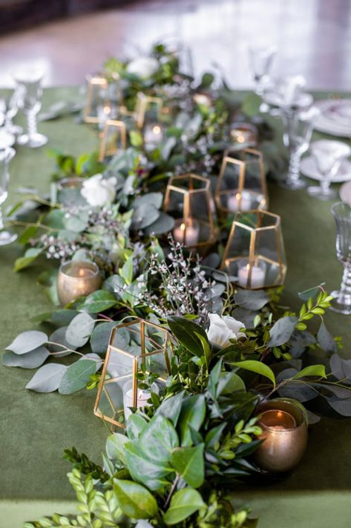Glass & Gold Candle Holders