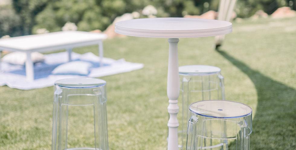 White Metal Bar Tables