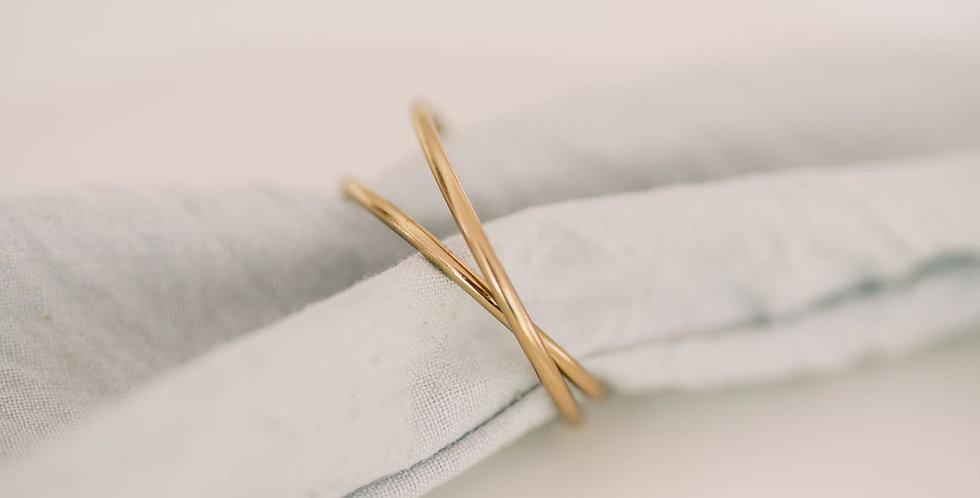 Gold Circular Napkin Ring