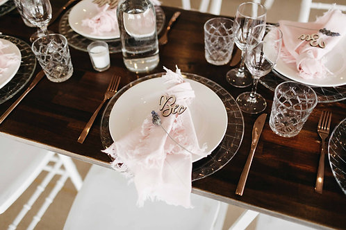 Cut Glass Charger Plates
