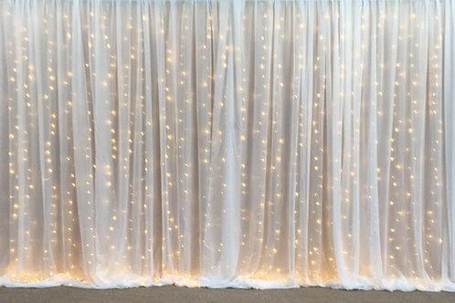 Fairy-light & Chiffon Curtain