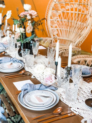 Scenic Rim Wedding Hire - Rose gold cutl