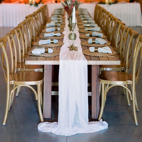 White Fabric Drape