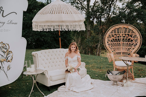 White Linen Lounge Setting