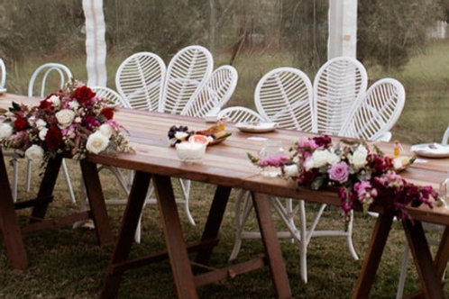 White Cane Petal Chairs