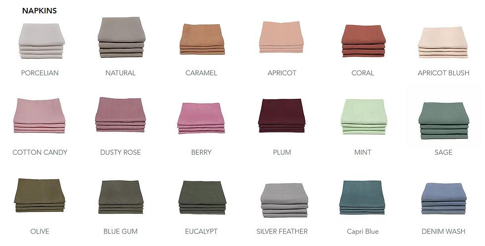 Linen Napkins >Many colours available