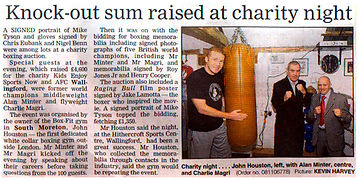 Knock-out Sum Raised at Charity Night