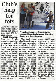 Club's help for tots