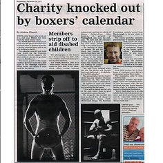 Charity knocked out by boxers' calender