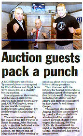 Auction Guests Pack A Punch