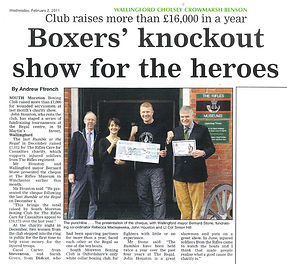 Boxers' knockout show for the heroes
