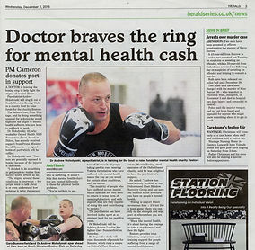 Doctor braves the ring for mental health cash