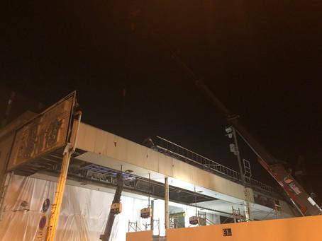 千日前商店街(岡山市)のアーケード解体
