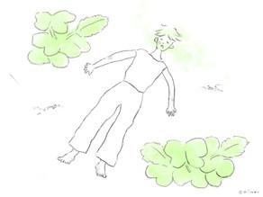 二十日大根の本葉はフカフカ