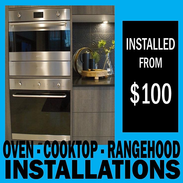 Oven, cooktop, rangehood installations.p