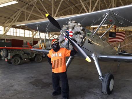 Phoenix Suns Gorilla visits the WOFF hangar!