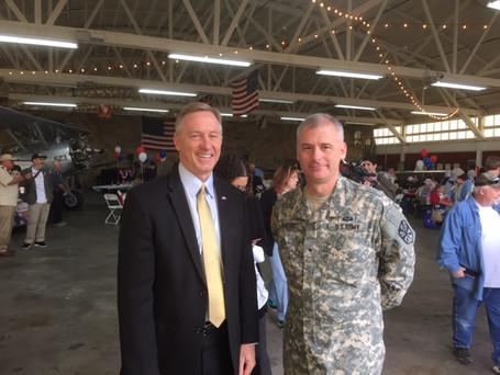 Mesa Mayor John Giles and General Hoefert.