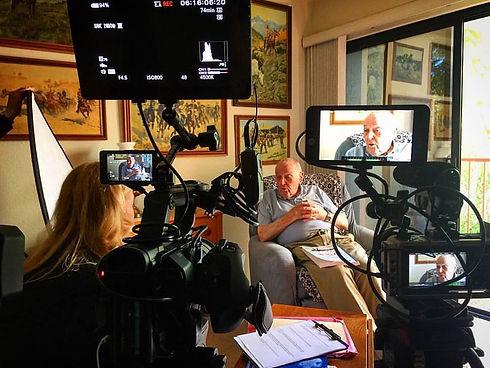 Dad being interviewed.JPG