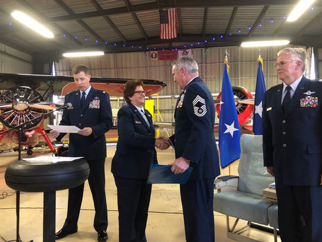 CMSGT Dan Condon retirement ceremony after 33 years of service.