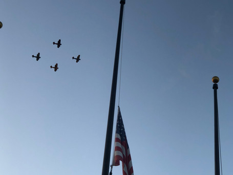Flyover for General Harvel Memorial at Fountain Hills August 2020.