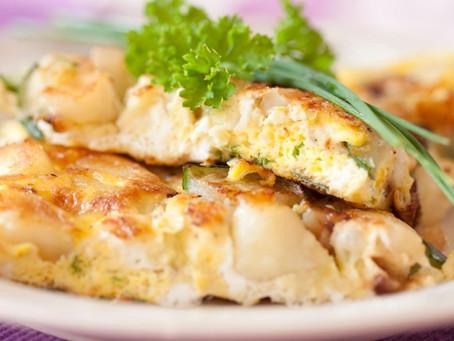 Cauliflower Frittata with Herb Salad