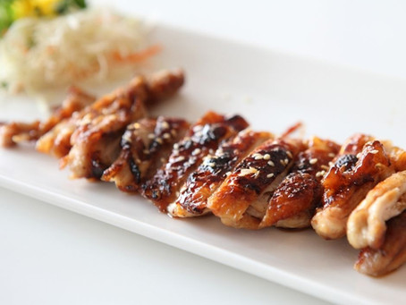 Teriyaki Grilled Chicken with Sugar & Chili Crusted Grilled Pineapple