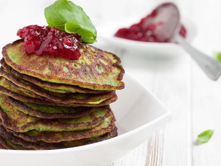 Spinach, Banana & Quinoa Pancakes
