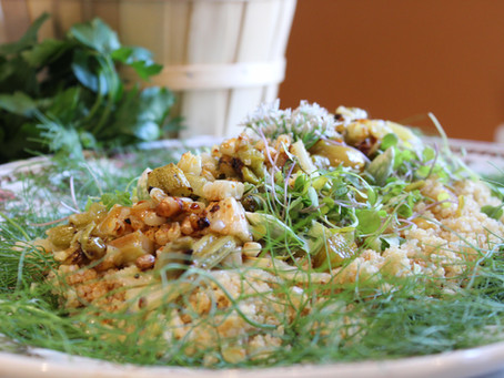Roasted Rhubarb & Fennel Salad