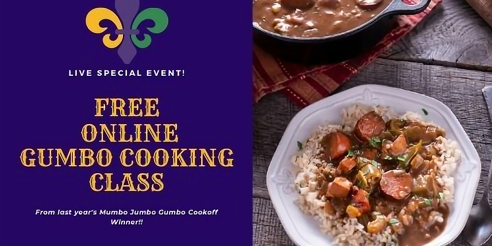 FREE Geaux Gumbo Cooking Class