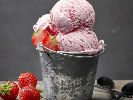 Vegan Strawberry Coconut No Churn Ice Cream