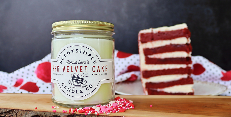 Red Velvet Cake Candle