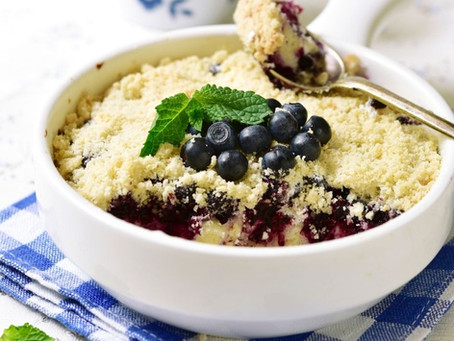 Blueberry & Ricotta Crumble