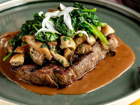Sauteed Spinach with Mushrooms & Caramelized Onions