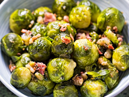 Brussel's Sprout, Bacon & Almond Salad