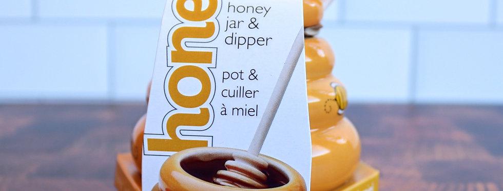 Honey Jar & Dipper Set
