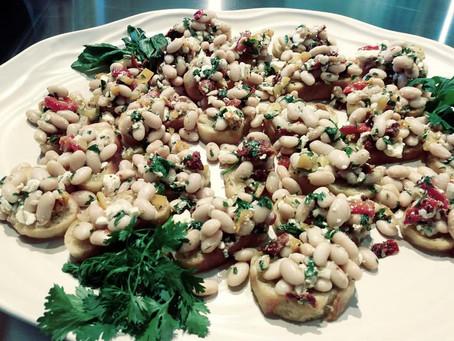 Marinated White Bean Salad on Olive Oil Toast